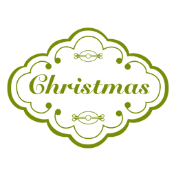 etiqueta de la decoración de navidad verde