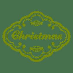 Etiqueta verde de navidad decoracion