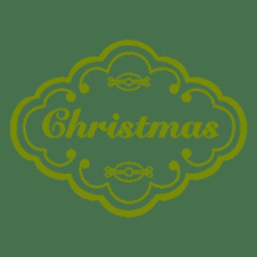 Etiqueta verde de navidad decoracion Transparent PNG