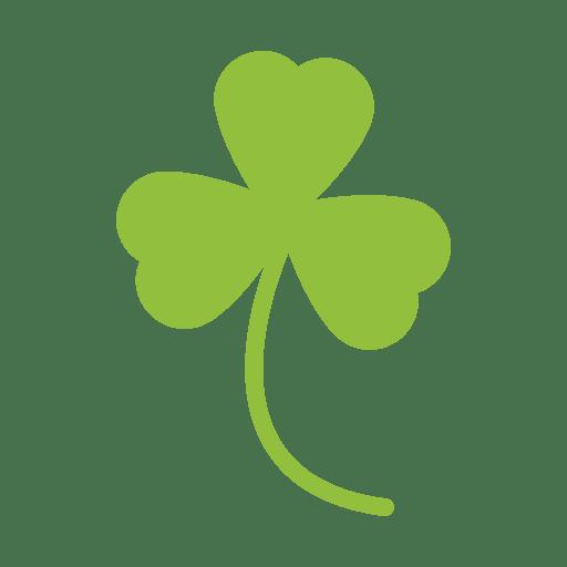 Green clover leaf silhouette Transparent PNG