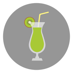 Bebida de coctel verde