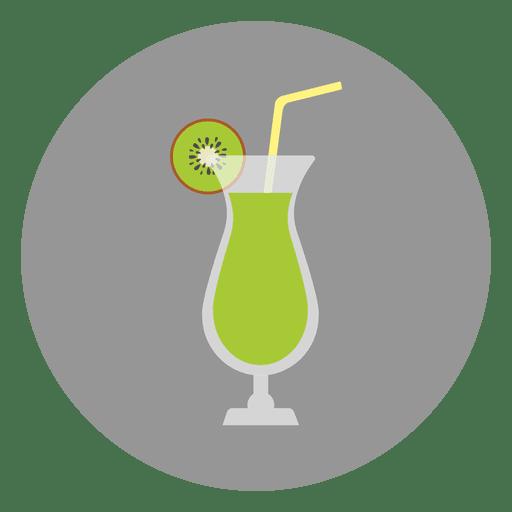 Bebida coctel verde