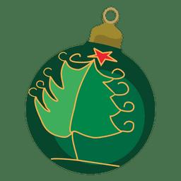 Bola de Natal decorativa verde