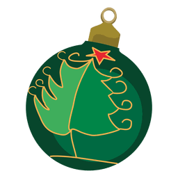 Green decorative christmas bauble