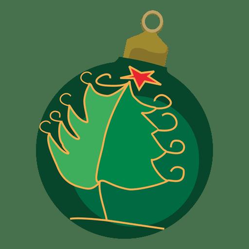 Green decorative christmas bauble transparent png svg