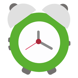 Green flat alarm clock