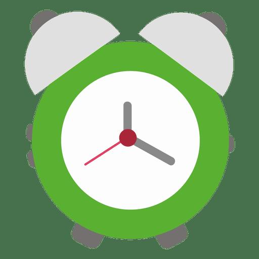 Green flat alarm clock Transparent PNG