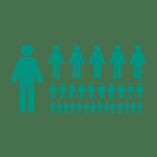 Green flat people symbol