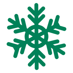 Green flat snowflake icon