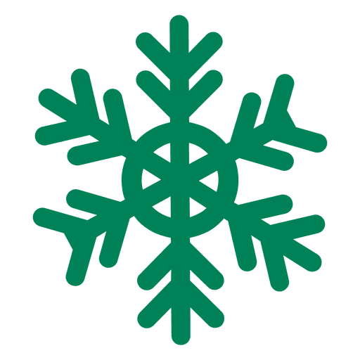 Green flat snowflake icon - Transparent PNG & SVG vector