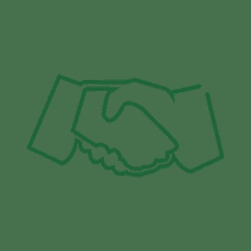 Green handshake line icon.svg