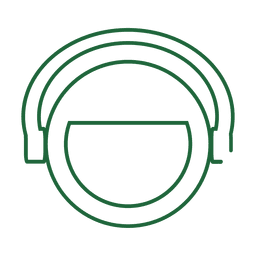 Green headphone line icon.svg