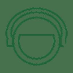Línea de auriculares verde icon.svg
