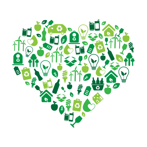 Green heart environmental icons.svg Transparent PNG