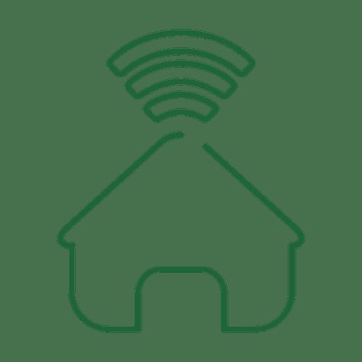 Linha de rede doméstica verde icon.svg Transparent PNG