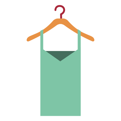 Green ladies tops on hanger Transparent PNG
