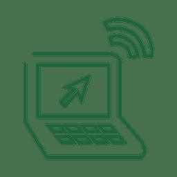 Línea verde del ordenador portátil icon.svg
