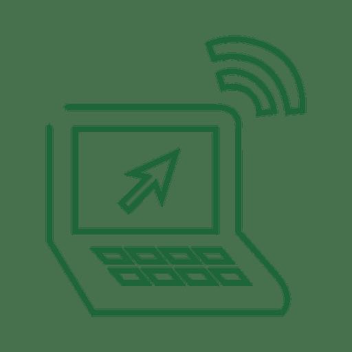 Línea verde del ordenador portátil icon.svg Transparent PNG
