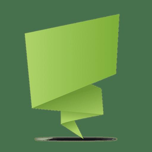 Green origami banner Transparent PNG