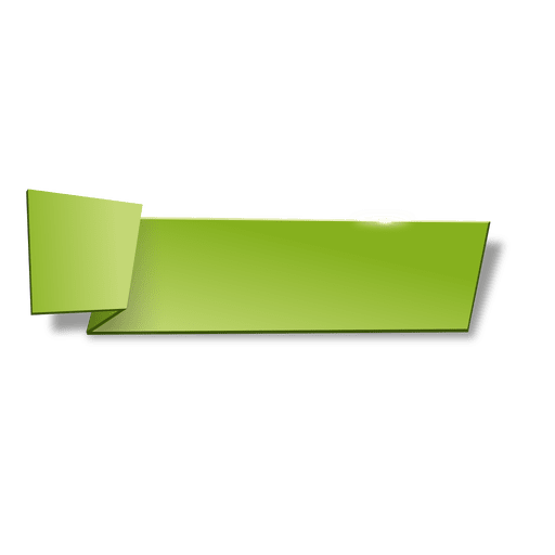Green origami horizontal banner Transparent PNG