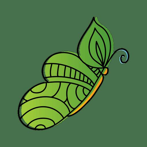Mariposa modelo oval verde Transparent PNG
