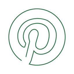 Green pinterest round line icon.svg