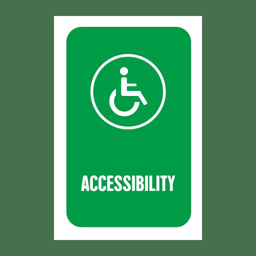 Etiqueta de accesibilidad Transparent PNG