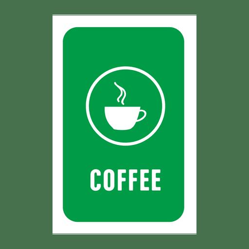 Etiqueta de servicio de café verde