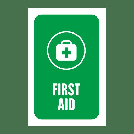 Etiqueta de primeros auxilios