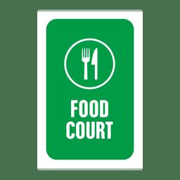 Etiqueta de serviço de comida verde