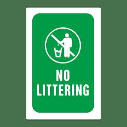 Etiqueta de servicio de basura verde