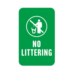 Green littering service tag label