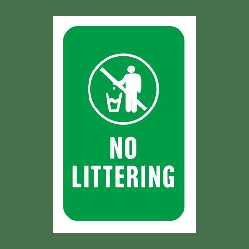 Etiqueta de servicio de basura verde Transparent PNG
