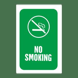 Etiqueta de servicio de fumar verde