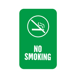 Green smoking service tag