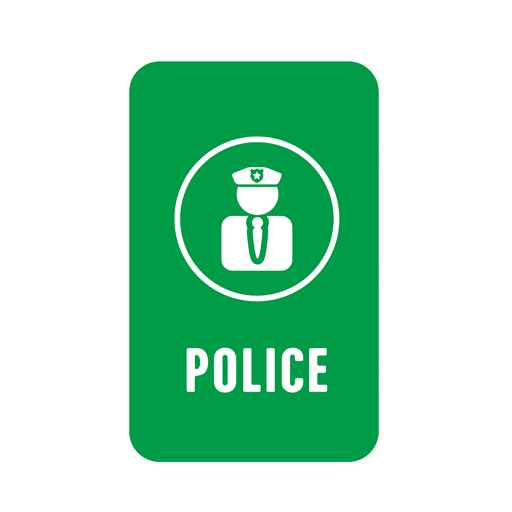 Green police tag Transparent PNG
