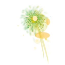 Fuegos artificiales brillantes verdes