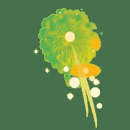 Grünes glänzendes Feuerwerk