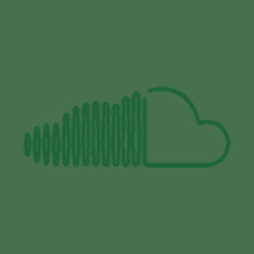 Green sliced line icon.svg