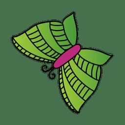 Green stripe butterfly decoration