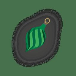 Bola de natal de listras verdes