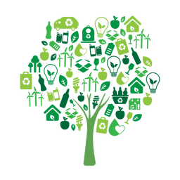 Árbol verde ecología icons.svg