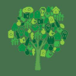 Árvore verde ecologia icons.svg