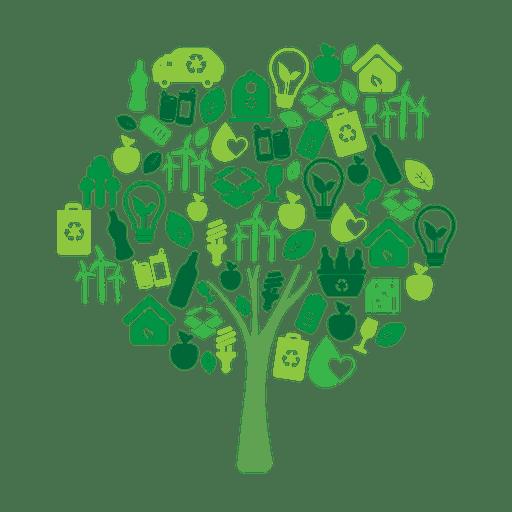 Ecología de árboles verdes icons.svg Transparent PNG