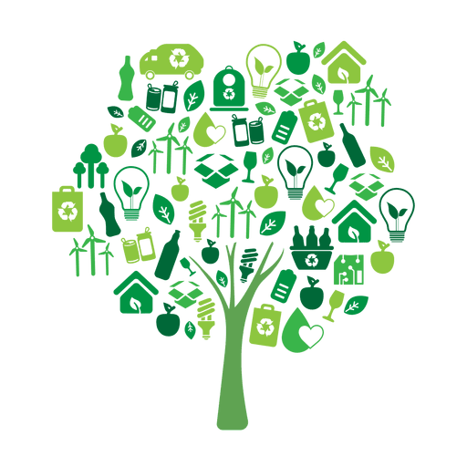 Green tree ecology icons.svg Transparent PNG