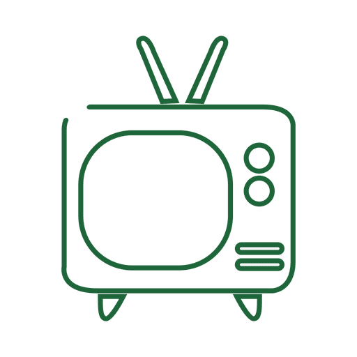 Green tv line icon.svg Transparent PNG