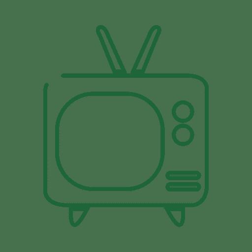 Green tv line icon.svg
