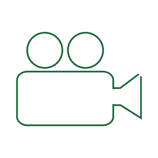 Green video camera line icon.svg Transparent PNG