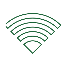 Green wifi line icon4.svg