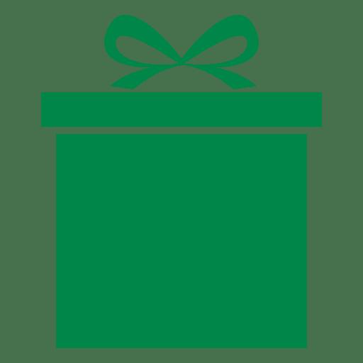 Green xmas giftbox Transparent PNG